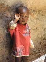 Little boy in nursery, Kibera, Kenya